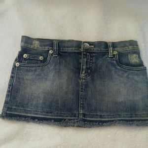DKNY Skirt sz 1 jean mini #0155